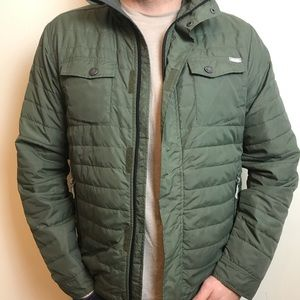 Bench khaki padded quilted jacket size L